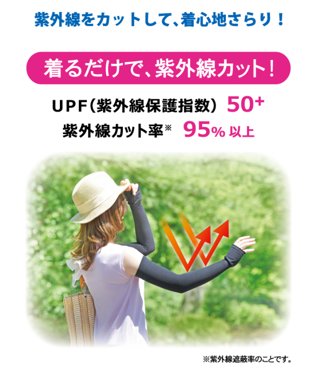 夏用二の腕ソックス 紫外線カット